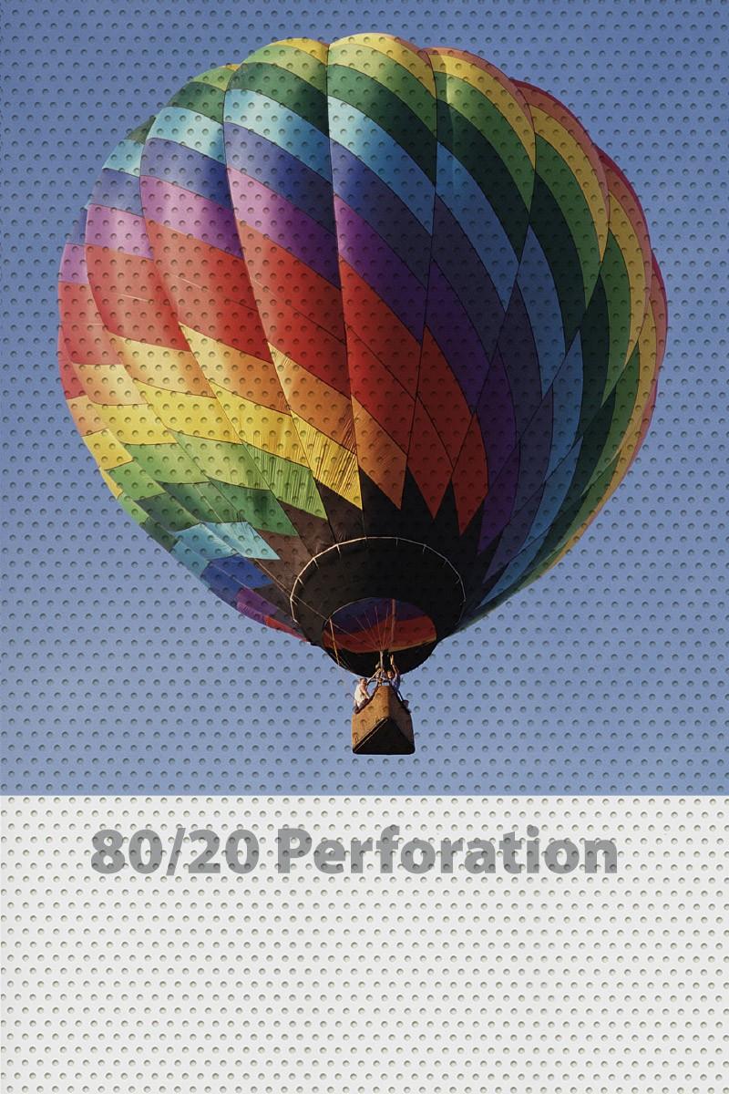View Through Perforated Adhesive Vinyl window graphics