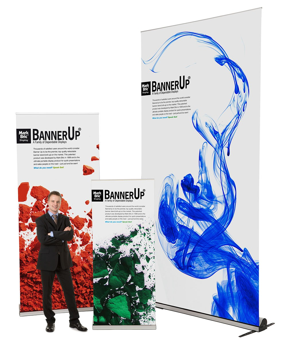 BannerUp Plus 36 Double Two Sided Retractable Banner Stand