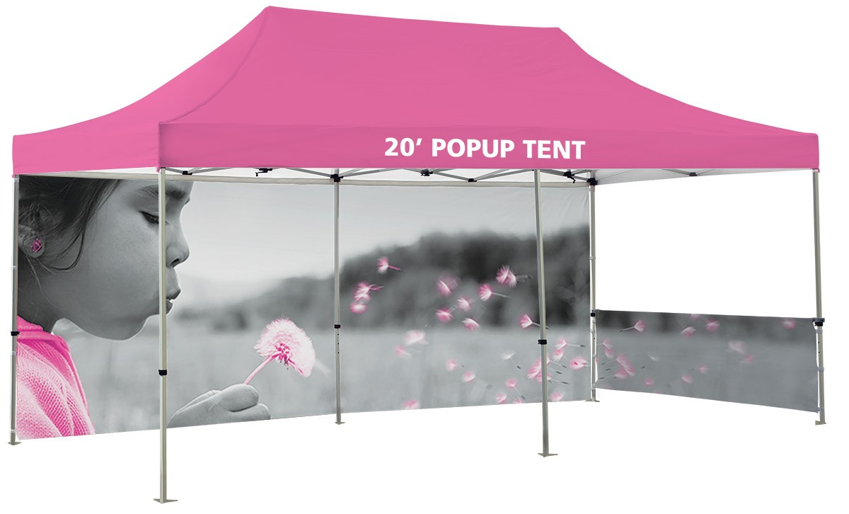 20' Canopy Tent Kit will full custom printed top and walls