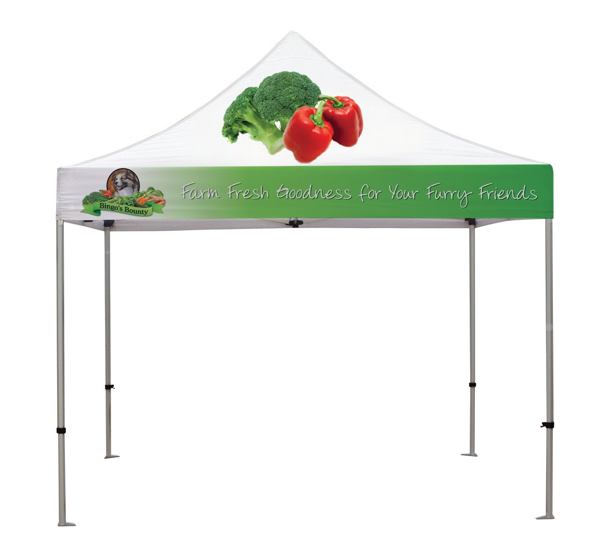 Canopy Tent Kit with custom printed top