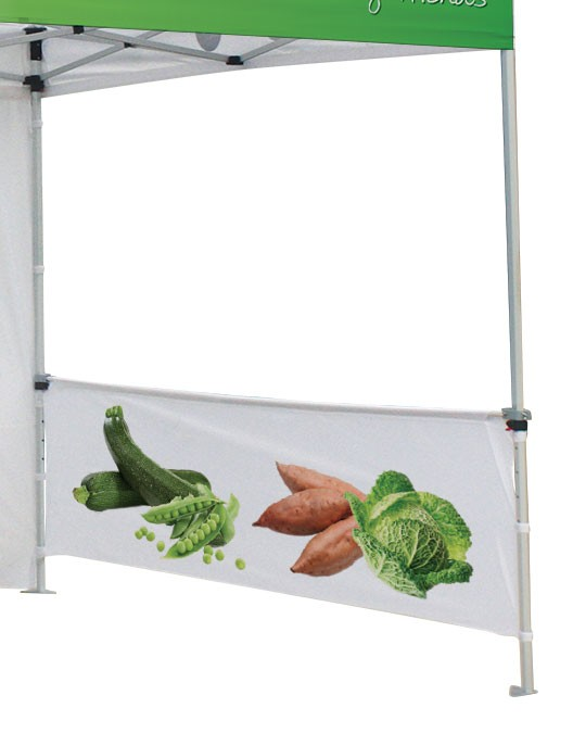 Replacement Canopy Custom Printed Half Wall