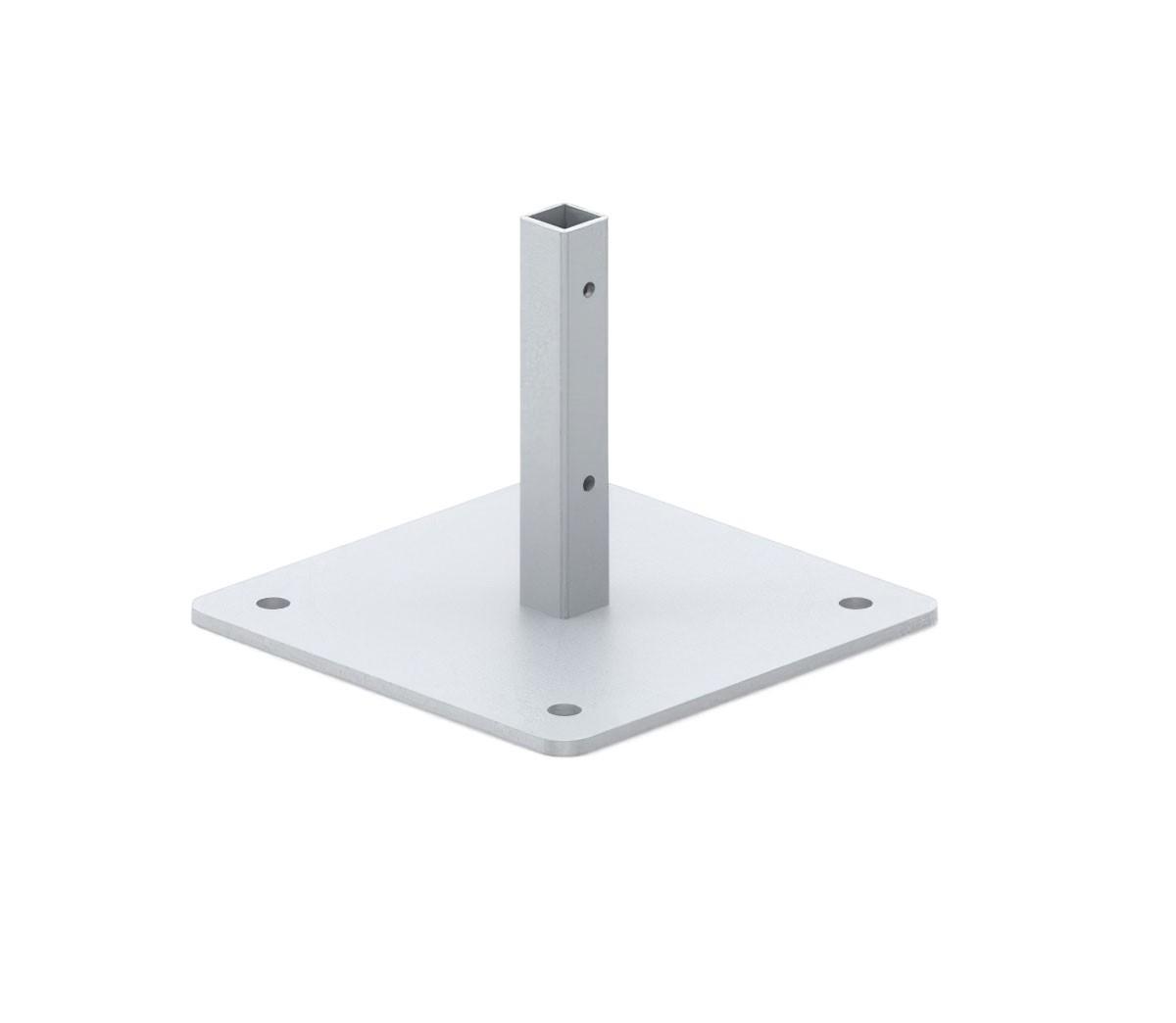 Cashier Shield Square Screw Down Base
