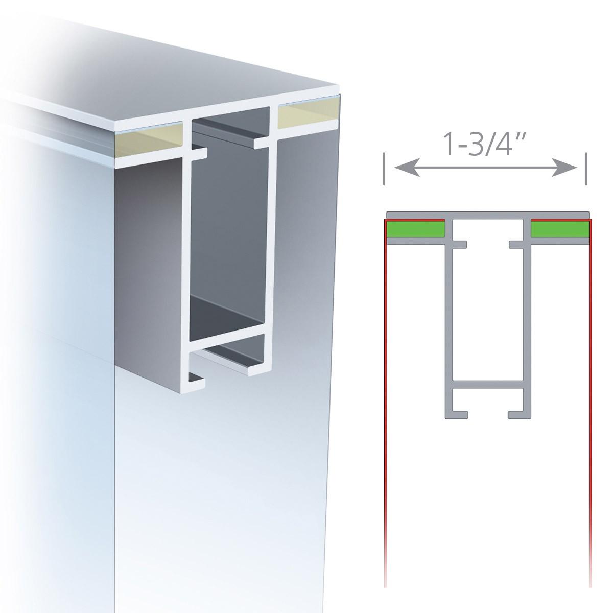 Charisma 72x120 Double Sided SEG Fabric Frame