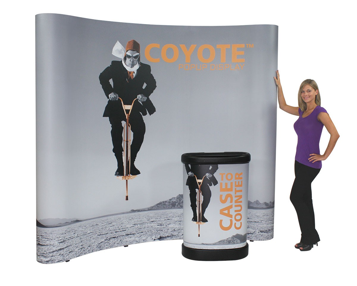 Coyote 3x3 8' Curved Frame Pop Up