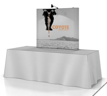 Coyote Mini 2x2 Table Top Pop Up Display