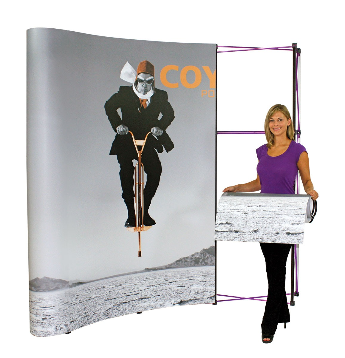 Coyote 1x3 4' Curved Frame Pop Up