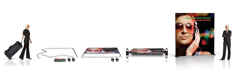 Expand GrandFabric 10x8 Straight Wall Fabric Trade Show Display