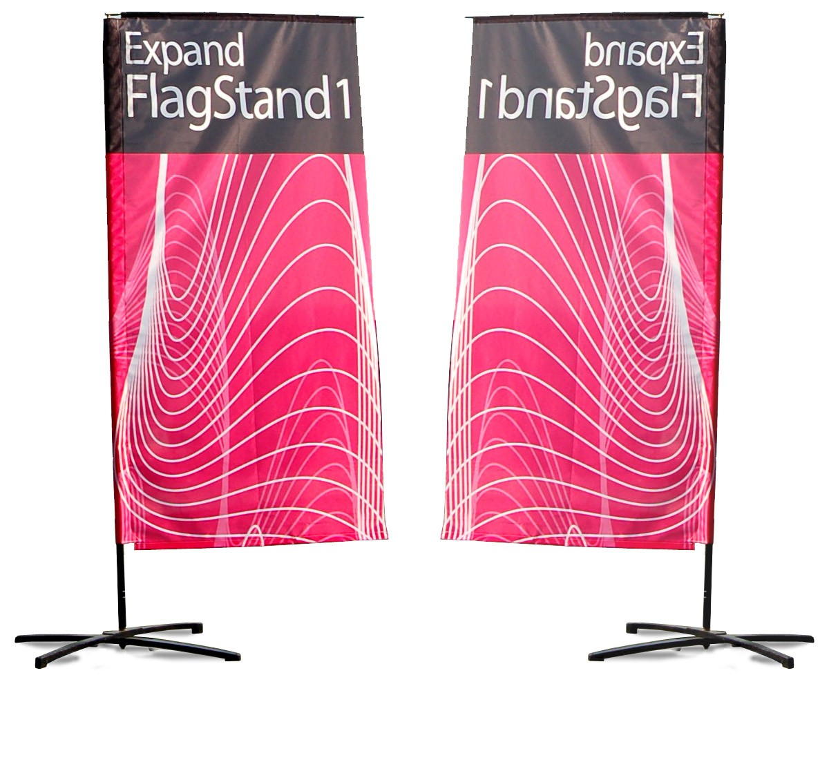 Expand FlagStand Large Outdoor Flag and Banner Pole