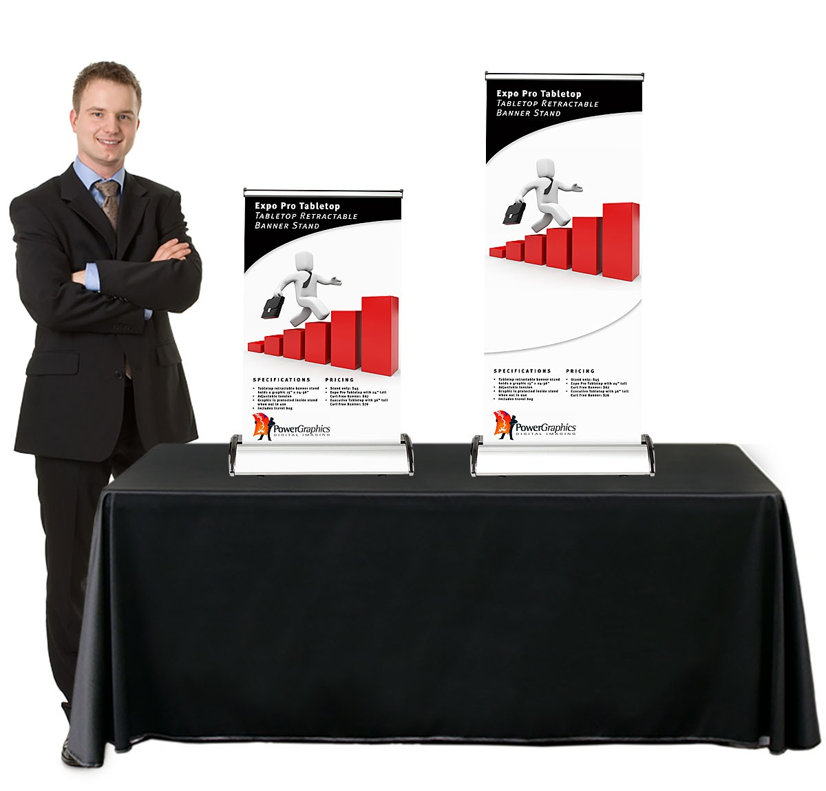 Expo Pro Table Top Retractable Banner Stand