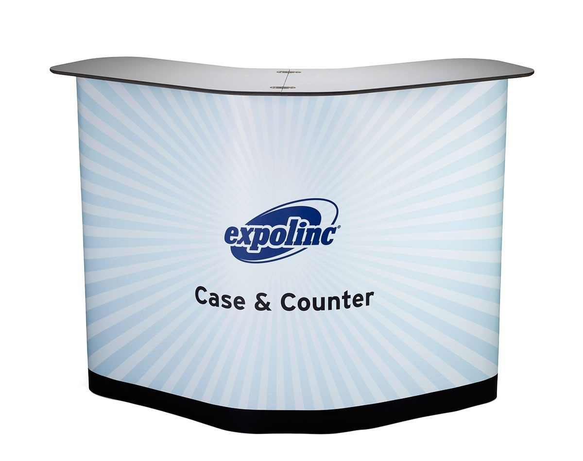 Expolinc Magnetic Pop Up 6' Curve Case & Counter