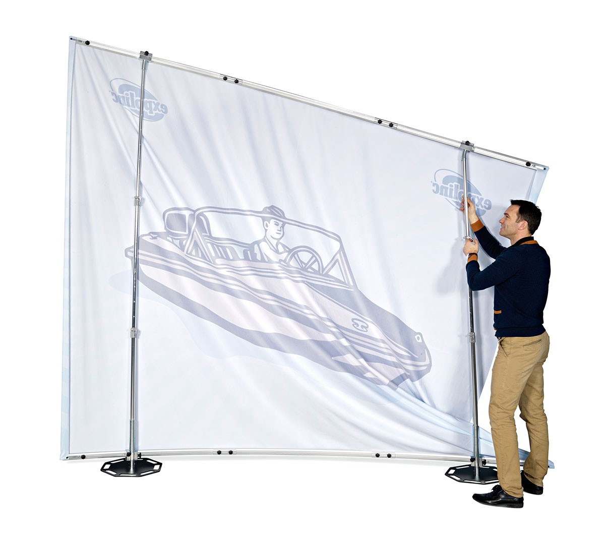 Expolinc Fabric System 10x8 Outer Curve Wall