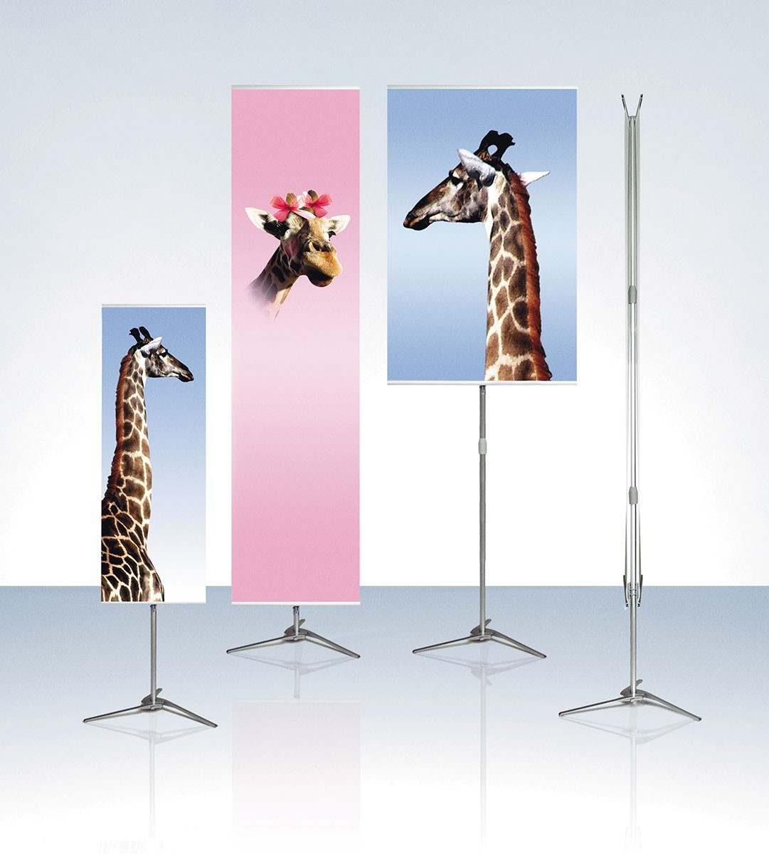 Expolinc Pole System 39 Double Two Sided Portable Banner Stand