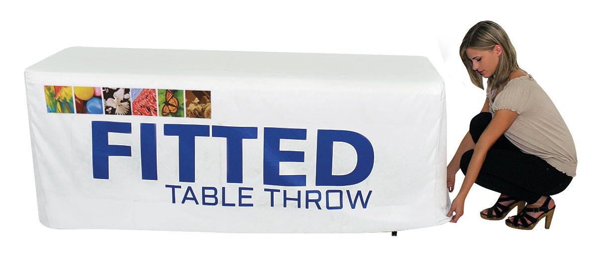 Full Color Fitted Table Throw for 6 foot table