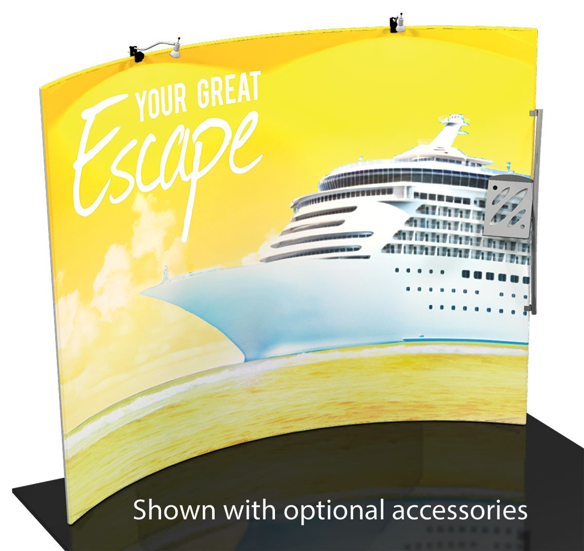 Formulate 10 ft Horizontal Curve Wall Tension Fabric Display