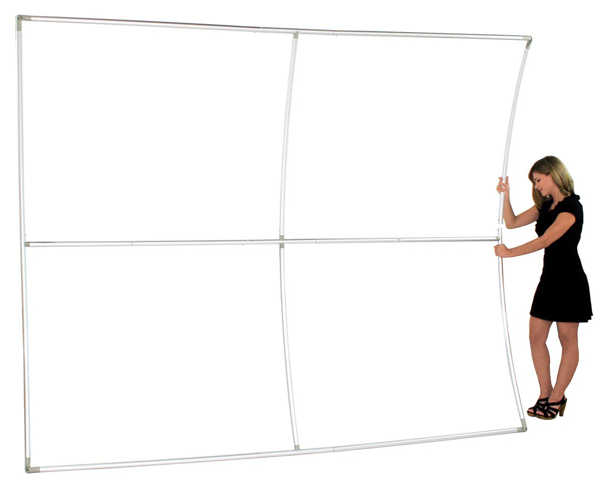 Formulate 20 ft Vertical Curve Wall Tension Fabric Display