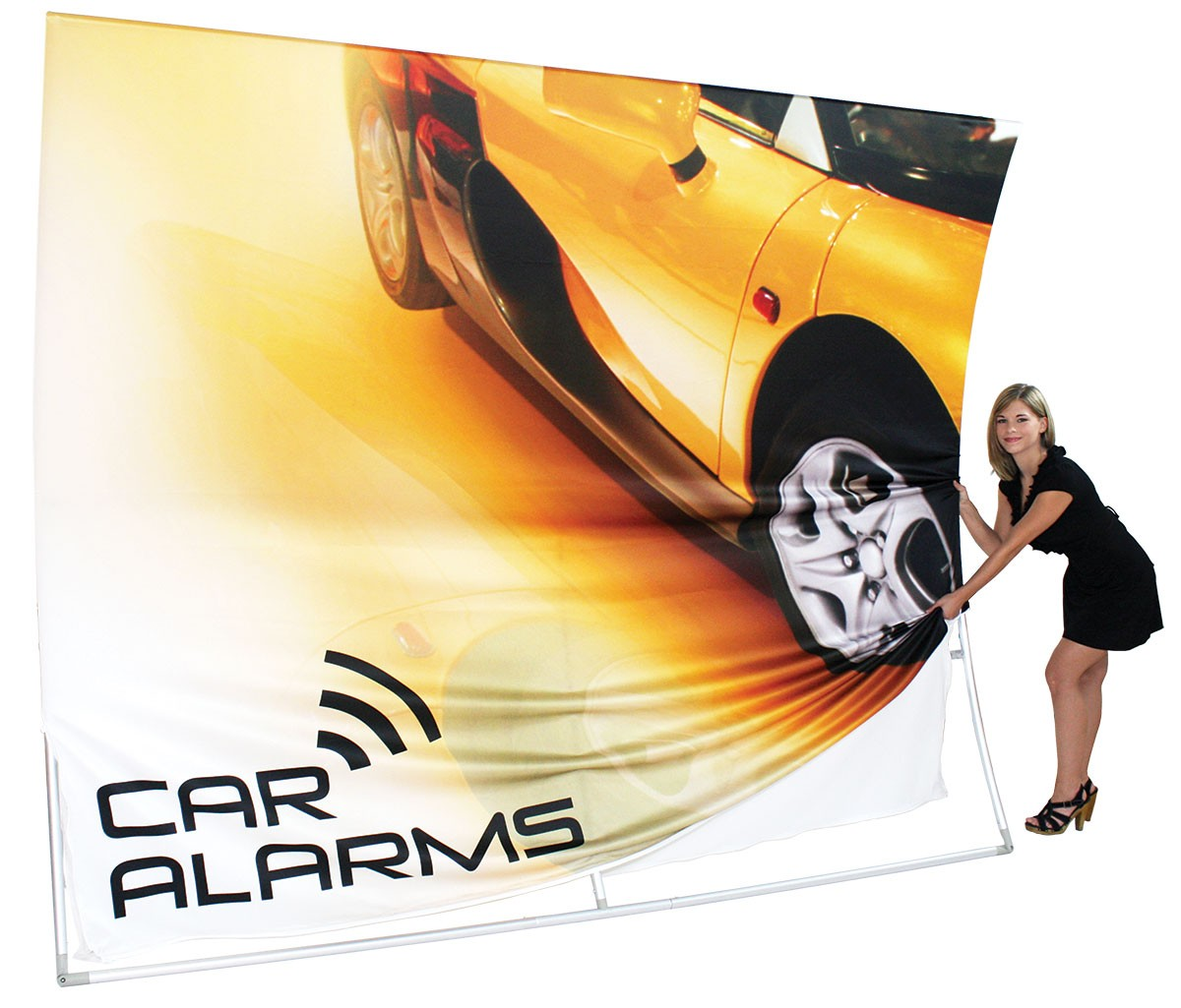 Formulate 20 ft Horizontal Curve Wall Tension Fabric Display