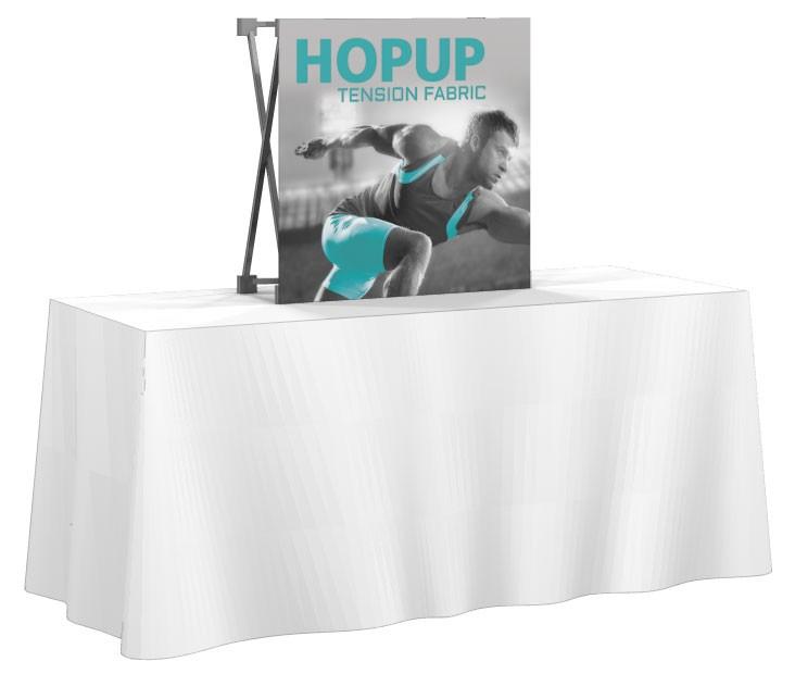 HopUp 1x1 Tension Fabric Table Top Display