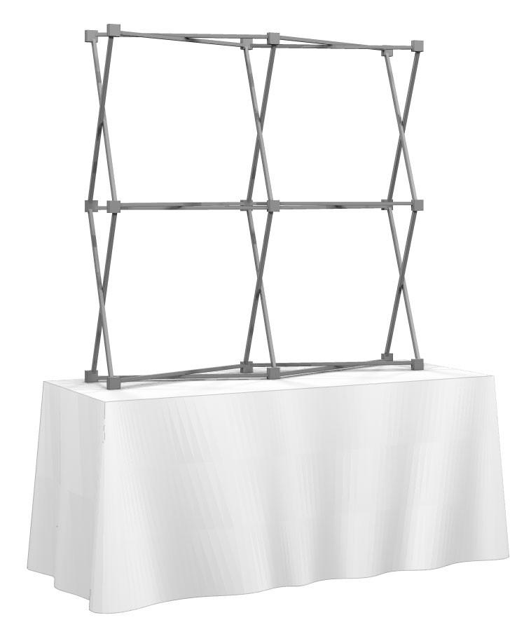 HopUp 2x2 Tension Fabric Table Top Display