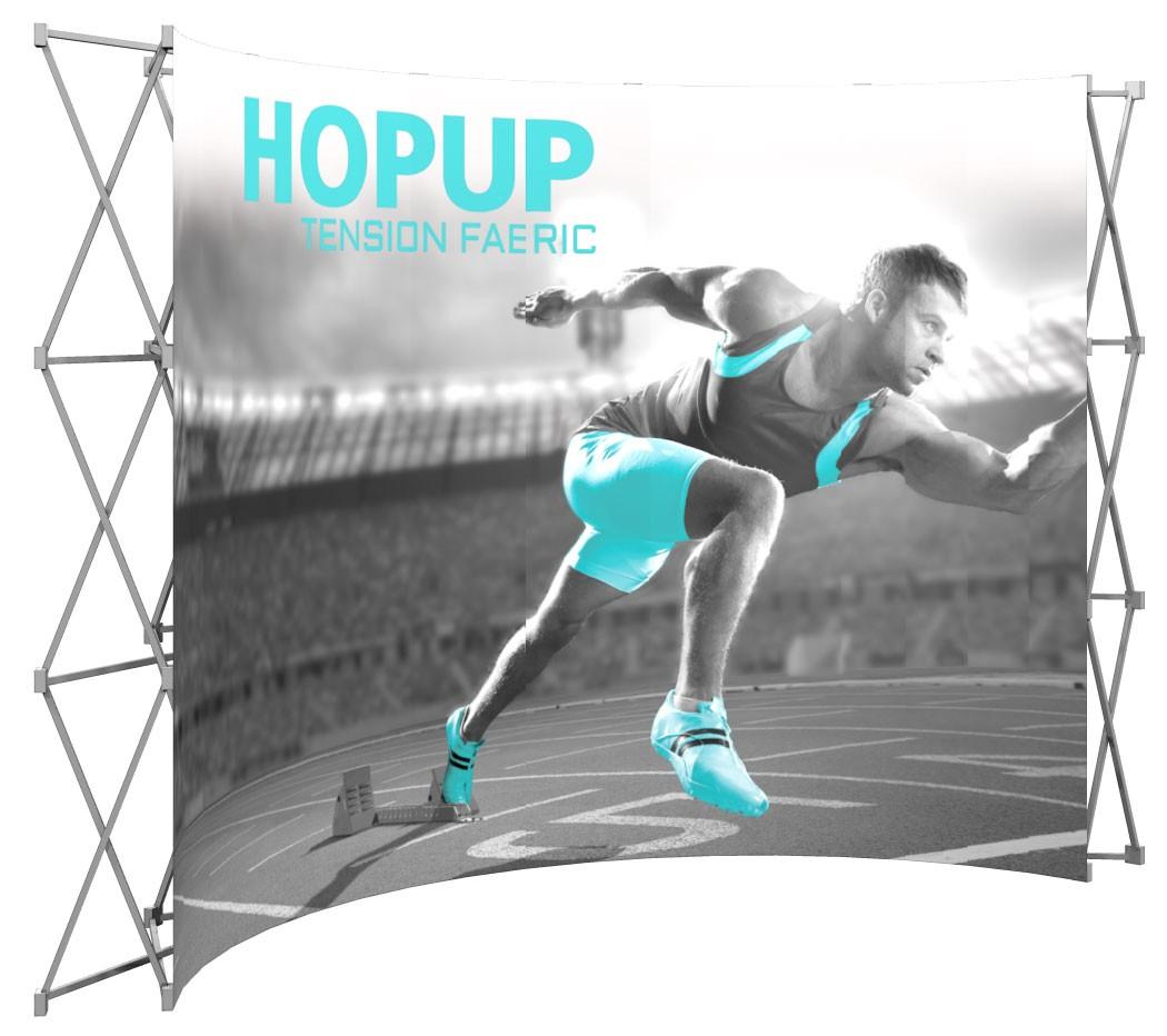 Hopup 5x3 Tension Fabric Pop Up Display