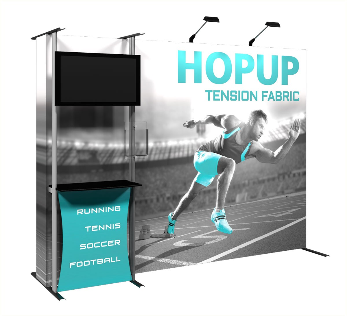 Fabric Pop Up Exhibition Stands : Hopup tension fabric pop up display power graphics