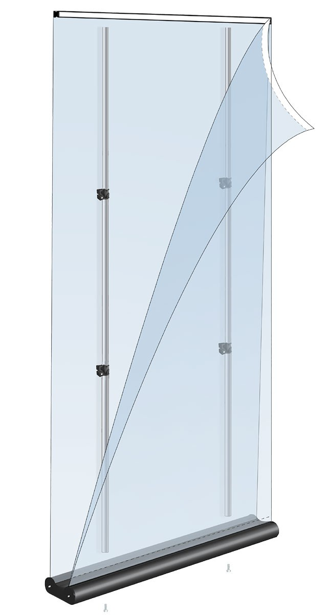 Mercury Double 48 Two Sided Retractable Banner Stand