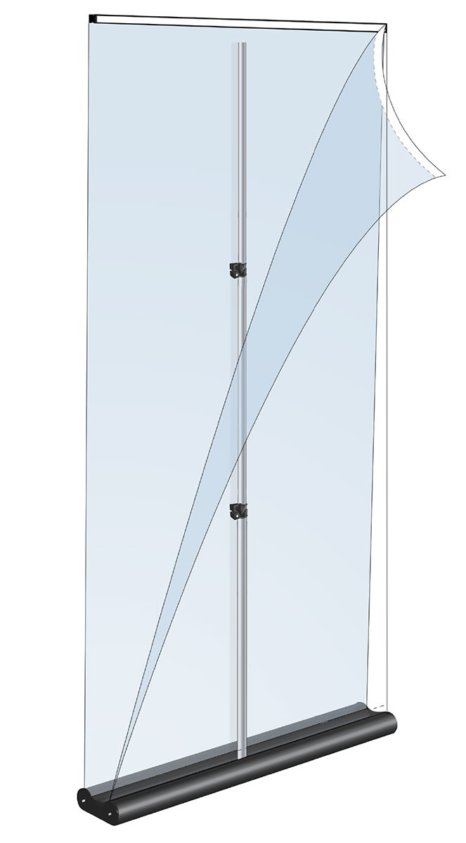 Mercury Double 36 Two Sided Retractable Banner Stand
