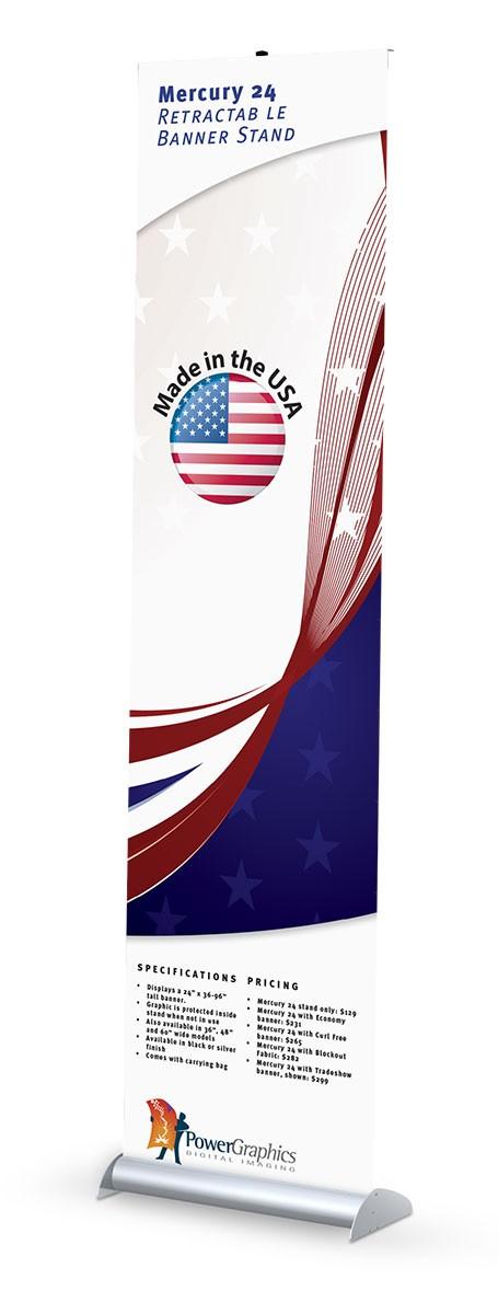 Mercury 24 Retractable Banner Stand