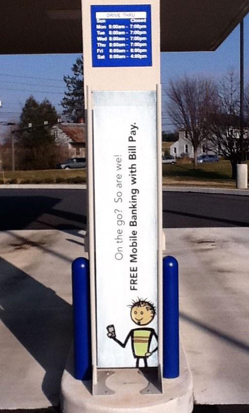 Messenger Permanent Outdoor Banner Stand
