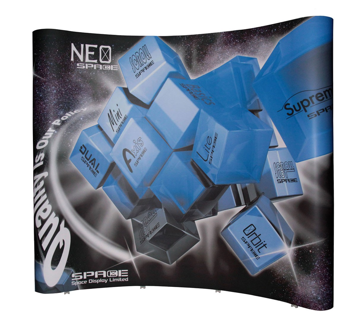 Neo 4x3 10' Curved Wall Pop Up Display