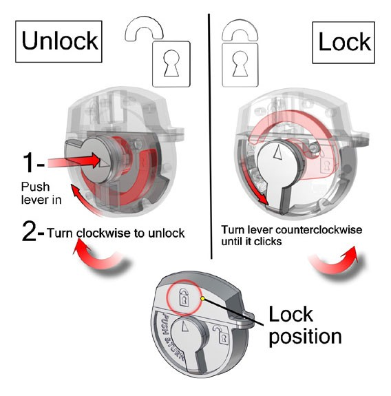 small molded shipping case lock instructions
