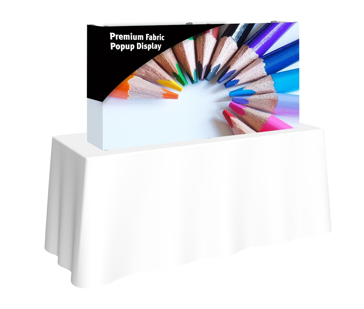 Premium Fabric Popup 5' x 2.5' Table Top Display