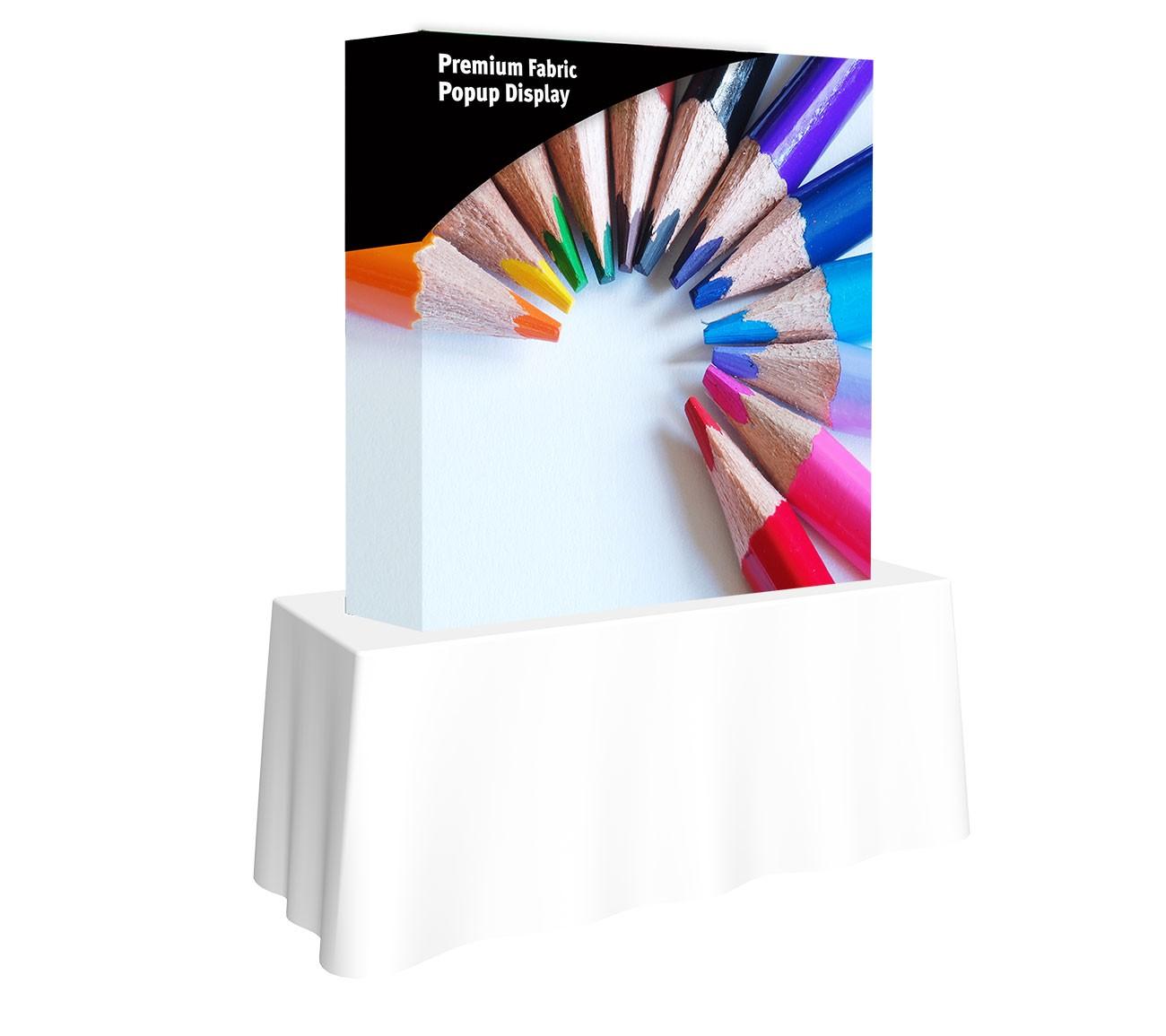 Premium Fabric Popup 5' x 5' Table Top Display