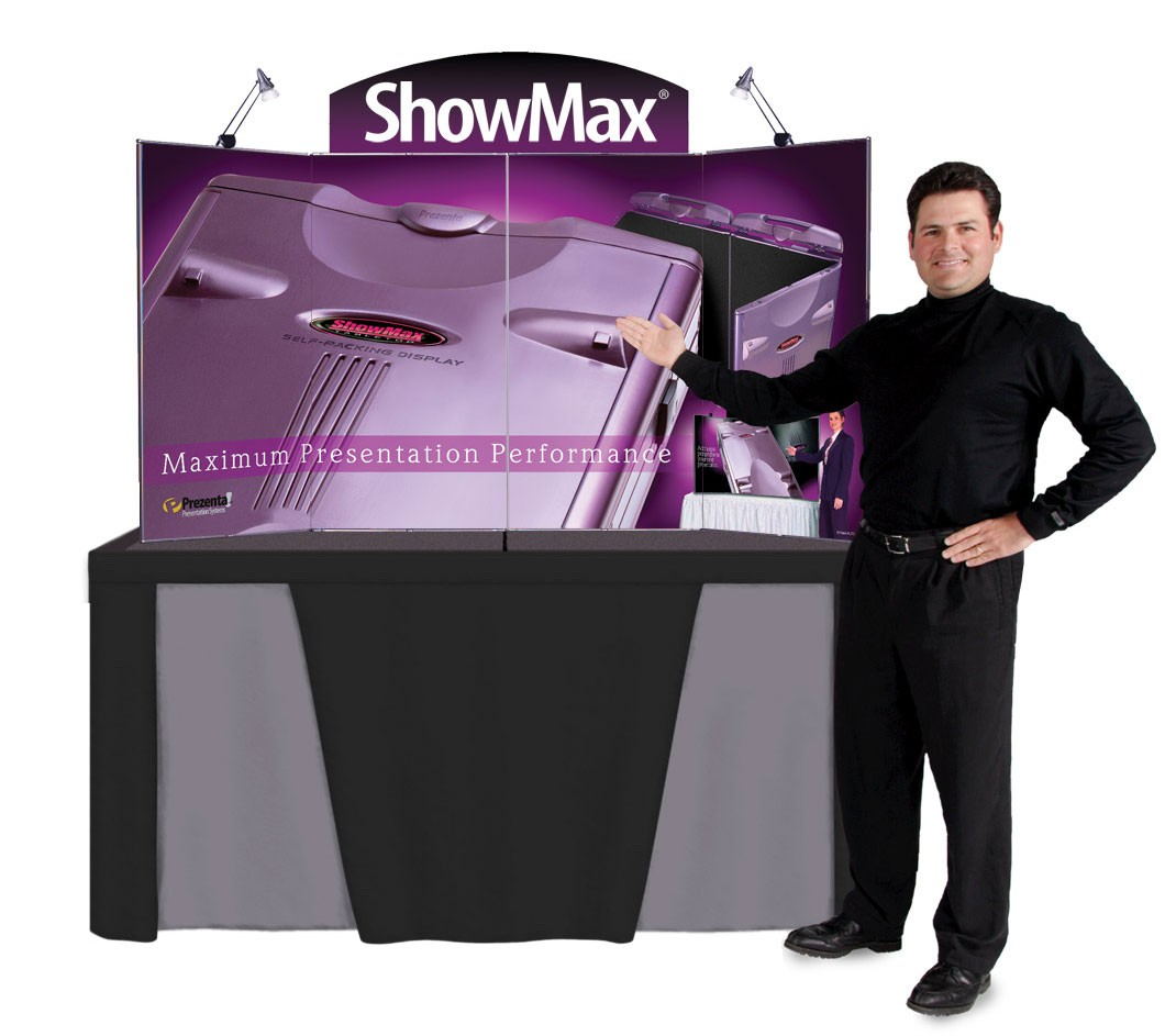 ShowMax Self-Packing Table Top Display