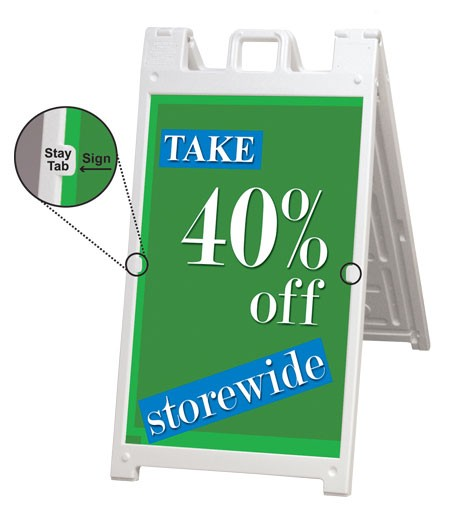 Signicade Deluxe A-Frame Sign Holder