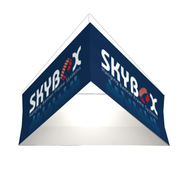 Triangle Hanging Fabric Display 12 ft