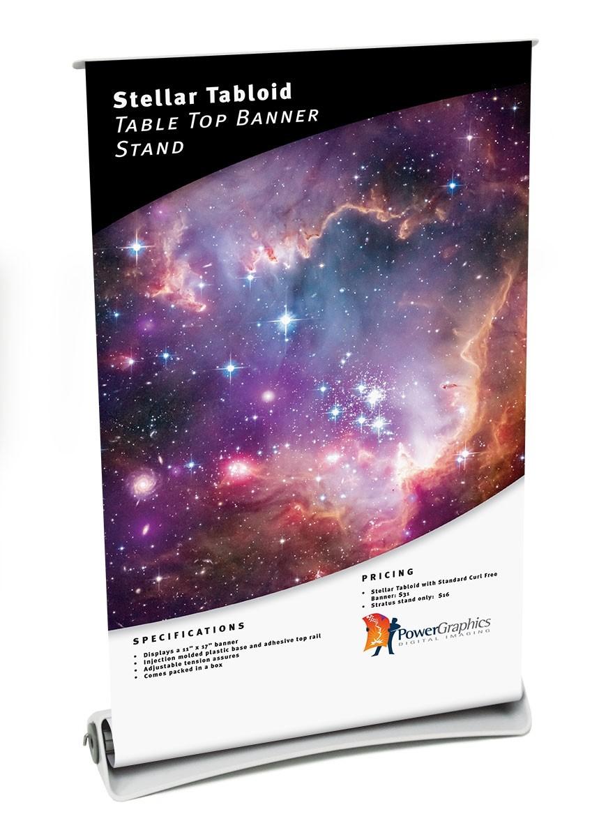 Stellar Tabloid Table Top Banner Stand
