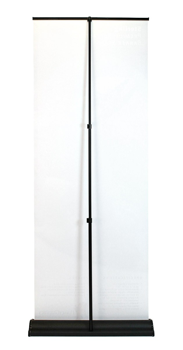 Sterling retractable banner stand back side