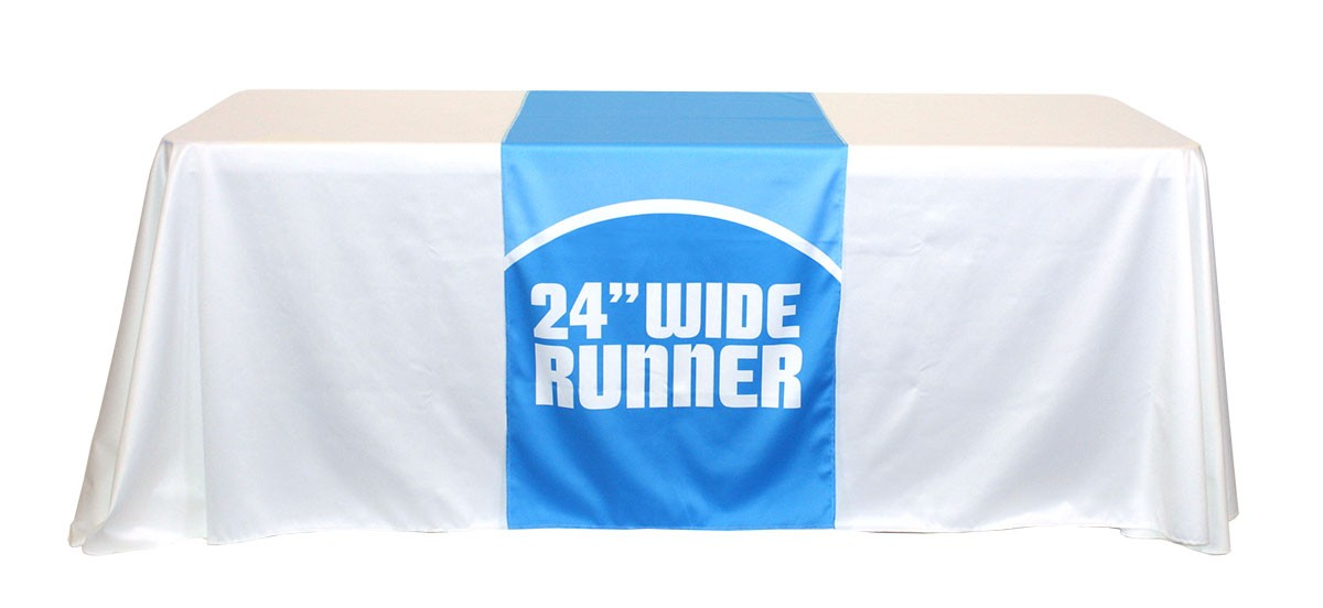Full Color 24 Inch Wide Table Runner