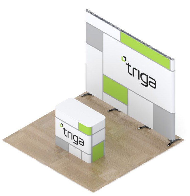 Triga 10x10 Trade Show Booth Package A
