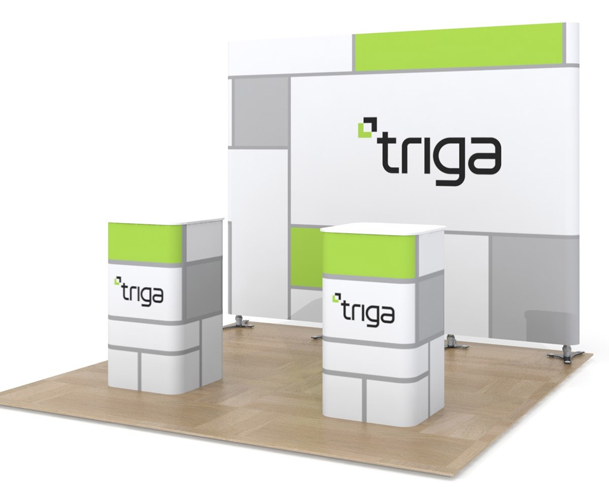 Triga 10x10 Trade Show Booth Package B