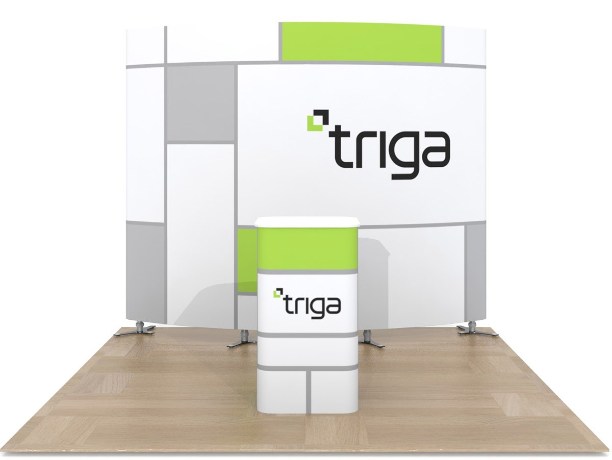 Triga 10x10 Trade Show Booth Package C