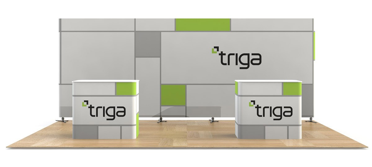 Triga 20x10 Trade Show Booth Package A