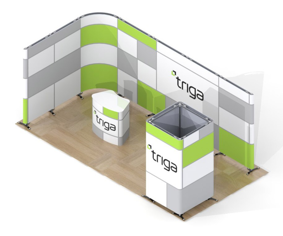 Exhibition Booth Package : Triga trade show booth package c power graphics
