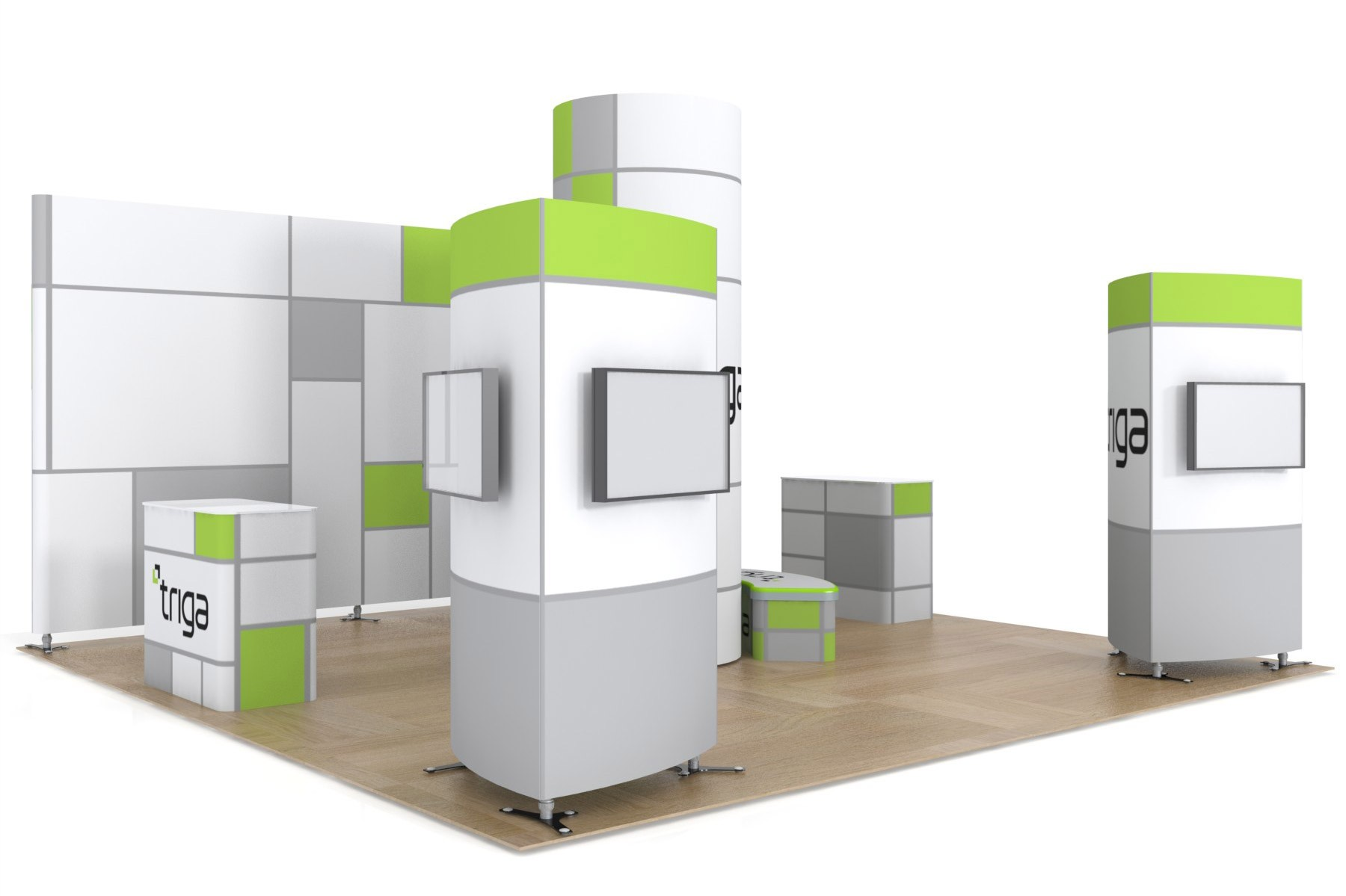 Exhibition Booth Package : Triga trade show booth package a power graphics