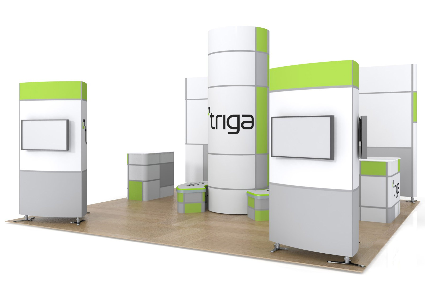 Triga 20x20 Trade Show Booth Package A