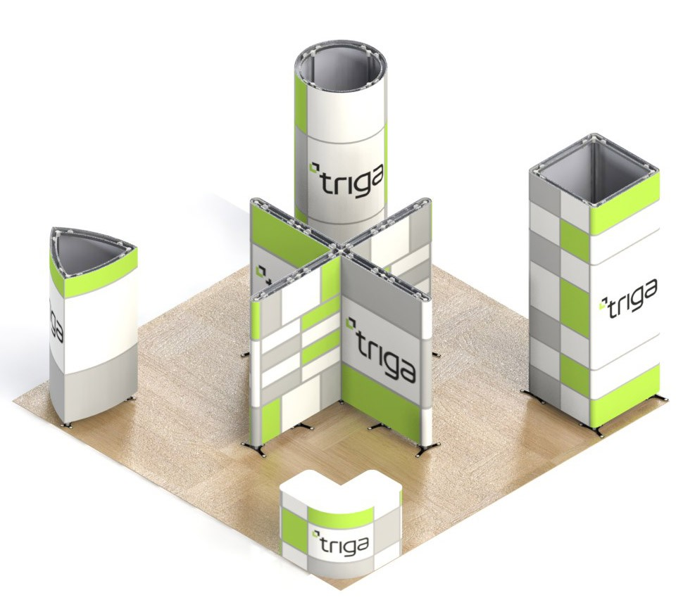 Triga 20x20 Trade Show Booth Package B