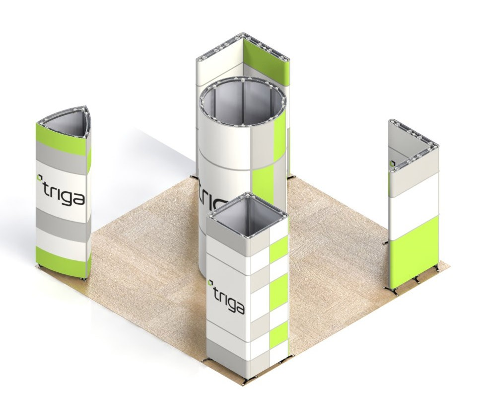 Triga 20x20 Trade Show Booth Package C