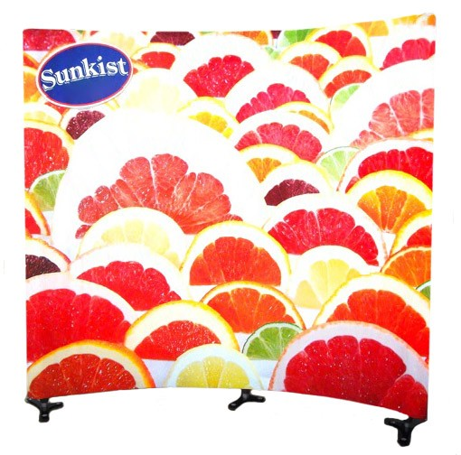 Triga 8x8 Concave Wall Tension Fabric Display