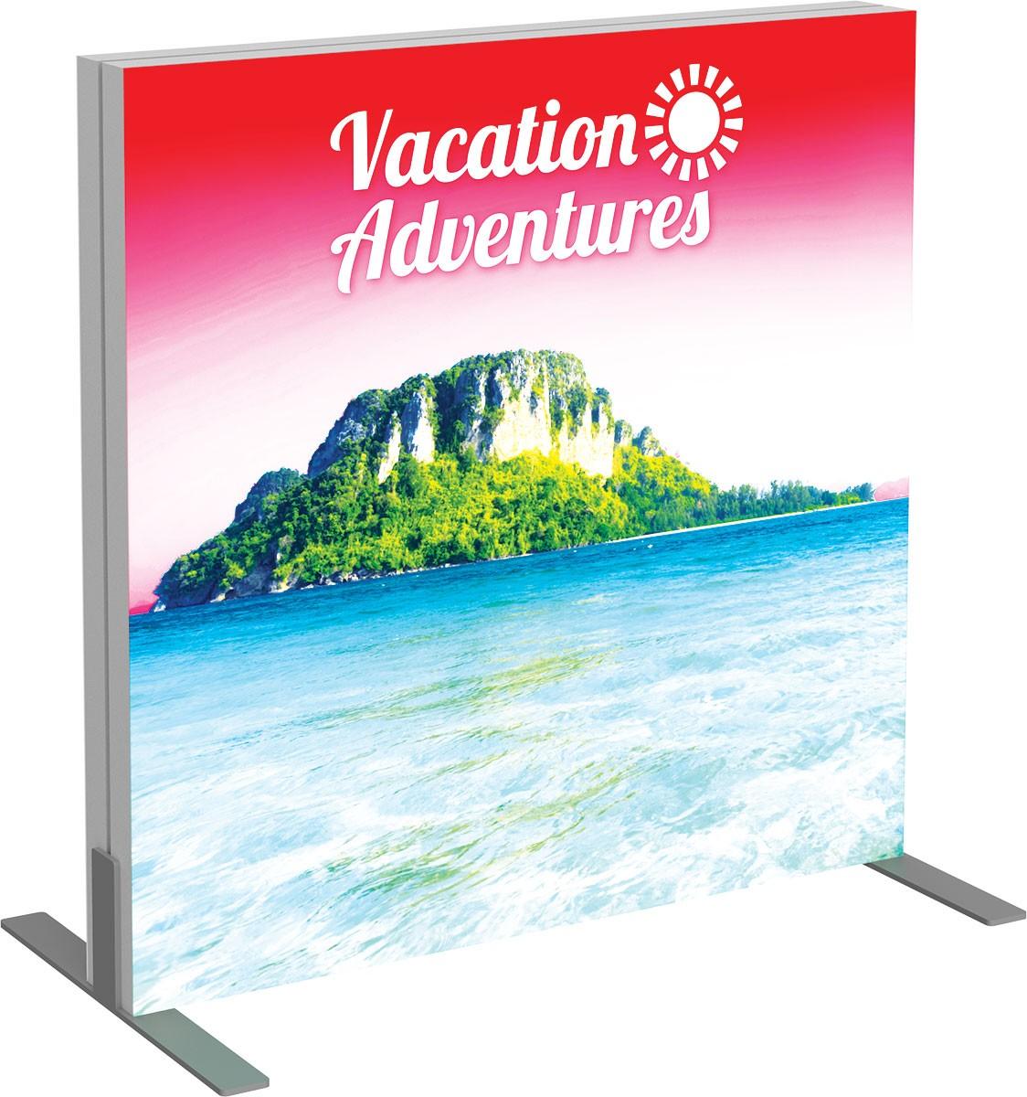 Vector Frame Backlit Display 3x3 Illuminated Tension Fabric Display