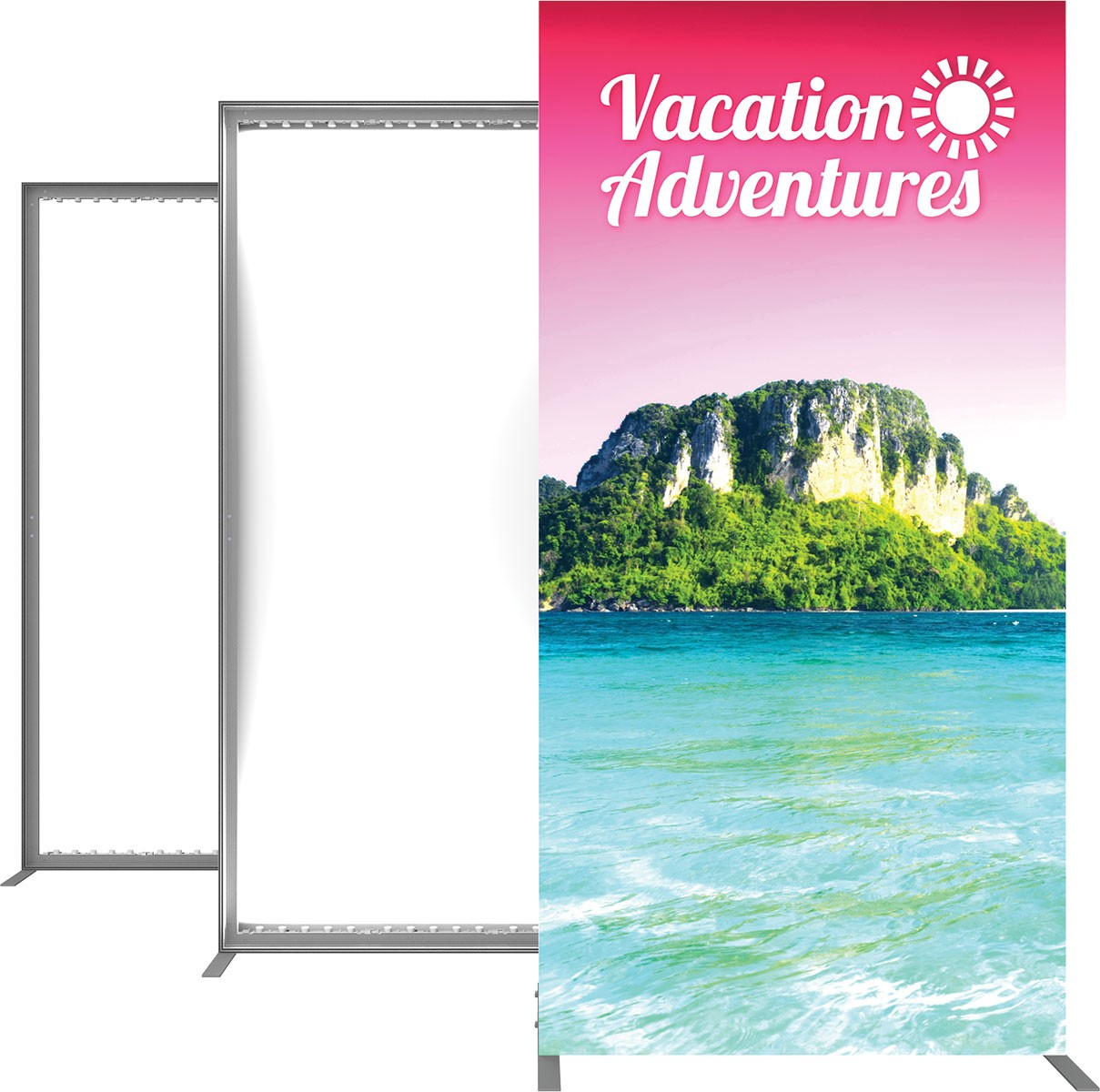 Vector Frame Backlit Display 6x6 Illuminated Tension Fabric Display